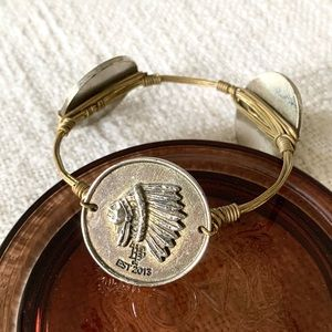 Bourbon and Bowties | Indian Head Gold Bangle